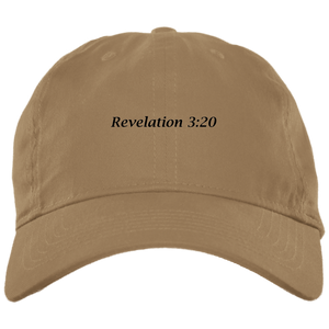 Revelation 3:20 Brushed Twill Unstructured Cap - THEGOODSHEPHERDSHIRTS.com