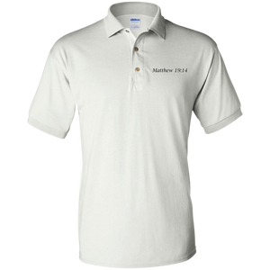 Matthew 19:14 - Young Adult Polo - THEGOODSHEPHERDSHIRTS.com