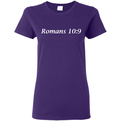 Romans 10:9 Women's Cotton T-Shirt - THEGOODSHEPHERDSHIRTS.com