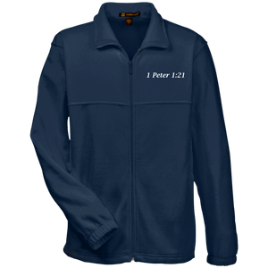 1 Peter 1:21 Men's Fleece Full Zip - THEGOODSHEPHERDSHIRTS.com