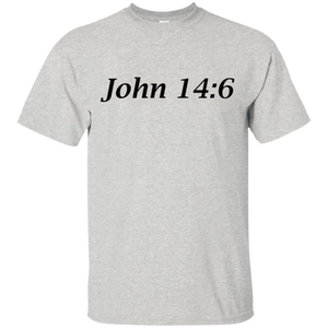 John 14:6 Men's Cotton T-Shirt - THEGOODSHEPHERDSHIRTS.com