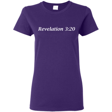 Revelation 3:20 Women's Cotton T-Shirt - THEGOODSHEPHERDSHIRTS.com