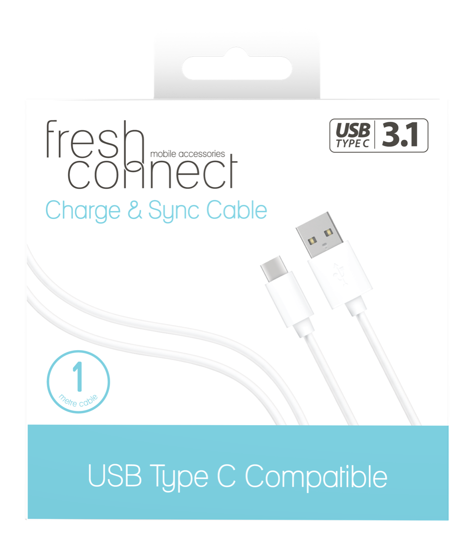 Fresh Connect Type-C 1m Cable -White