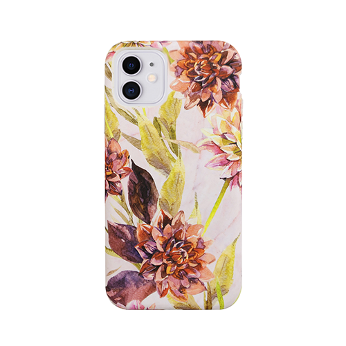 Uunique Eco Friendly Printed White Flower Cover for iPhone 11 - White/Red