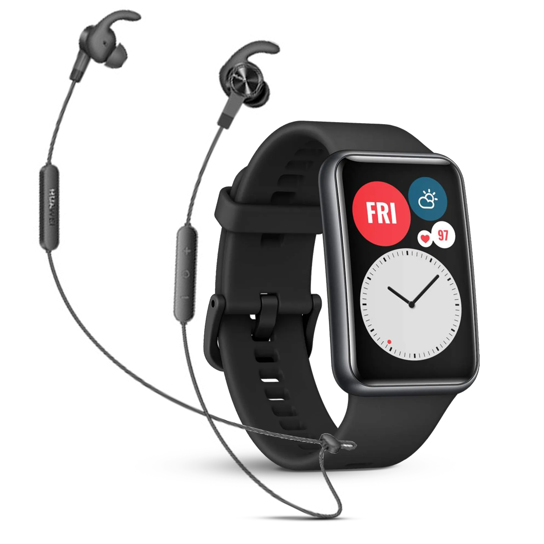 Huawei Fit Black Bundle & Free Headphones
