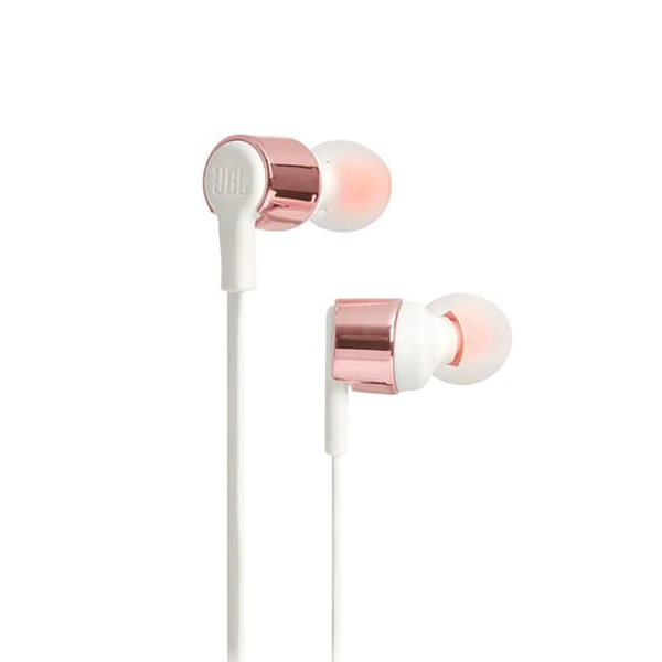 JBL T210 Earphones with Mic - Rose Gold