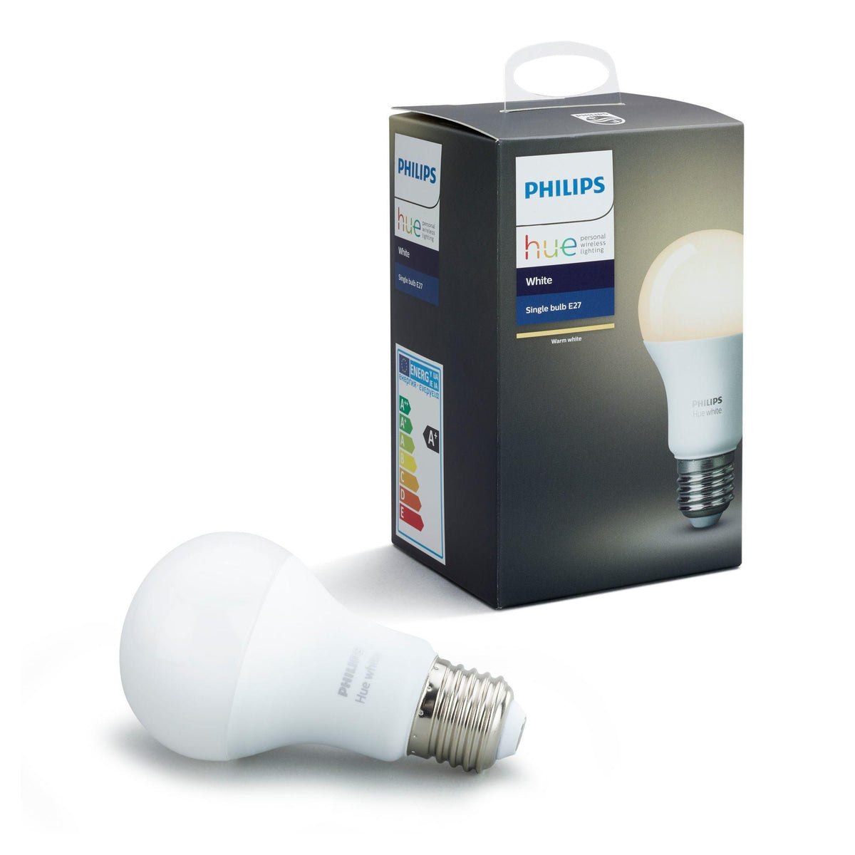 Philips Hue E27 (A19) White Smart Bulbs (Single Pack) - White