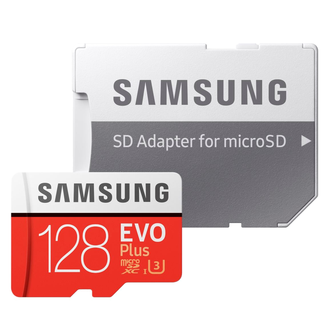 Samsung MicroSDXC EVO Plus 128GB Memory Card Red