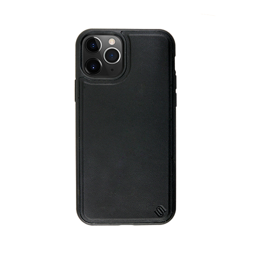 Uunique Eco Friendly Leather Cover for iPhone 11 Pro Max - Black