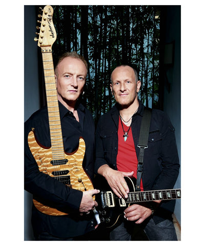 Phil Collen and Viv Campbell