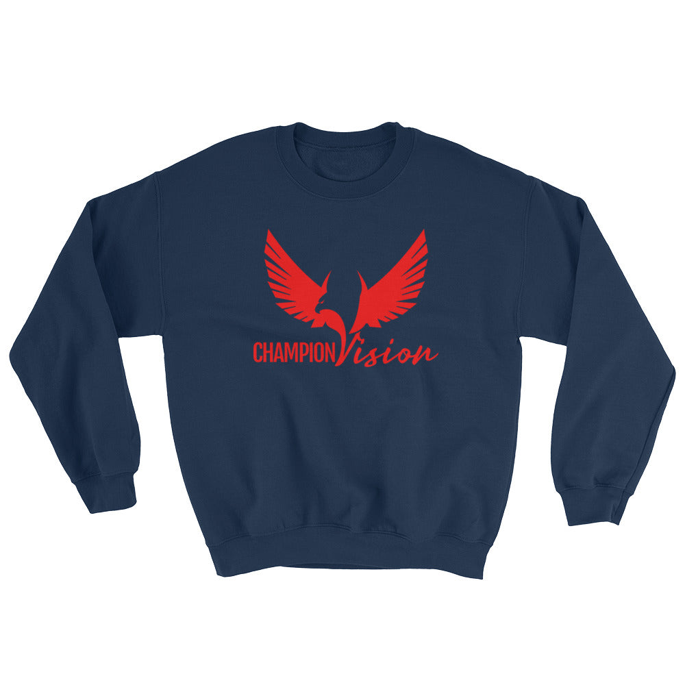 Men Champion Vision Logo Sweatshirt Red/ Navy Blue