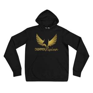 Women's Champion Vision Logo Hoodie Gold/ Black