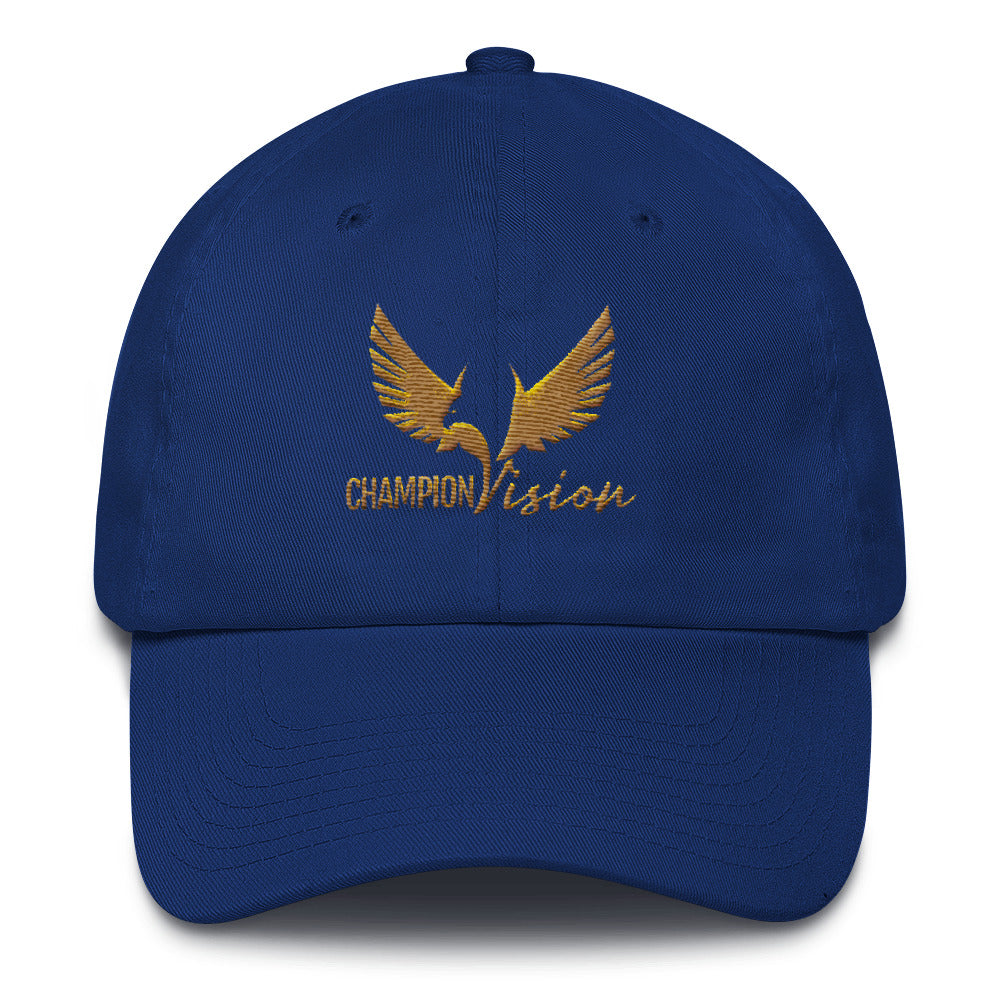 Gold Champion Vision Dad Hat Royal Blue