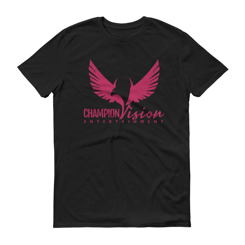 Men Champion Vision Logo Tee: Black | Pink