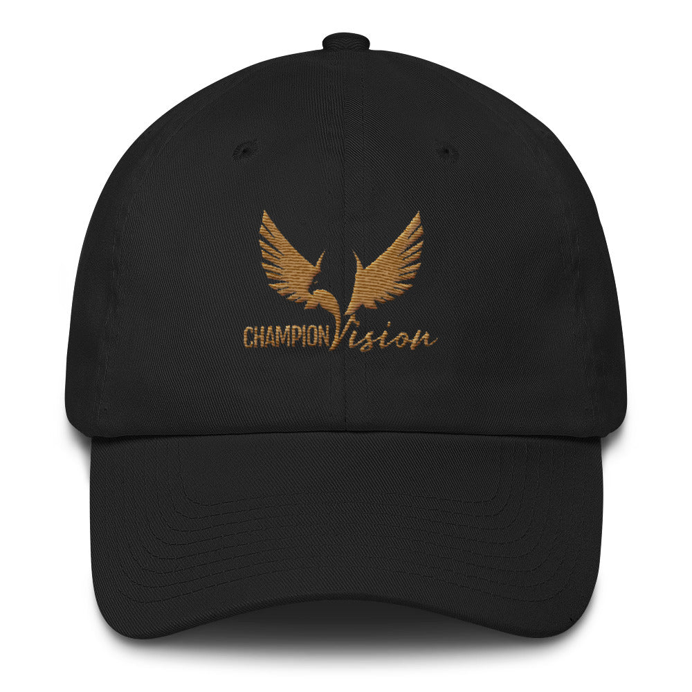 Gold Champion Vision Dad Hat Black