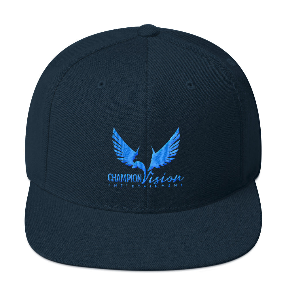 Light Blue CVE Snapback Navy Blue