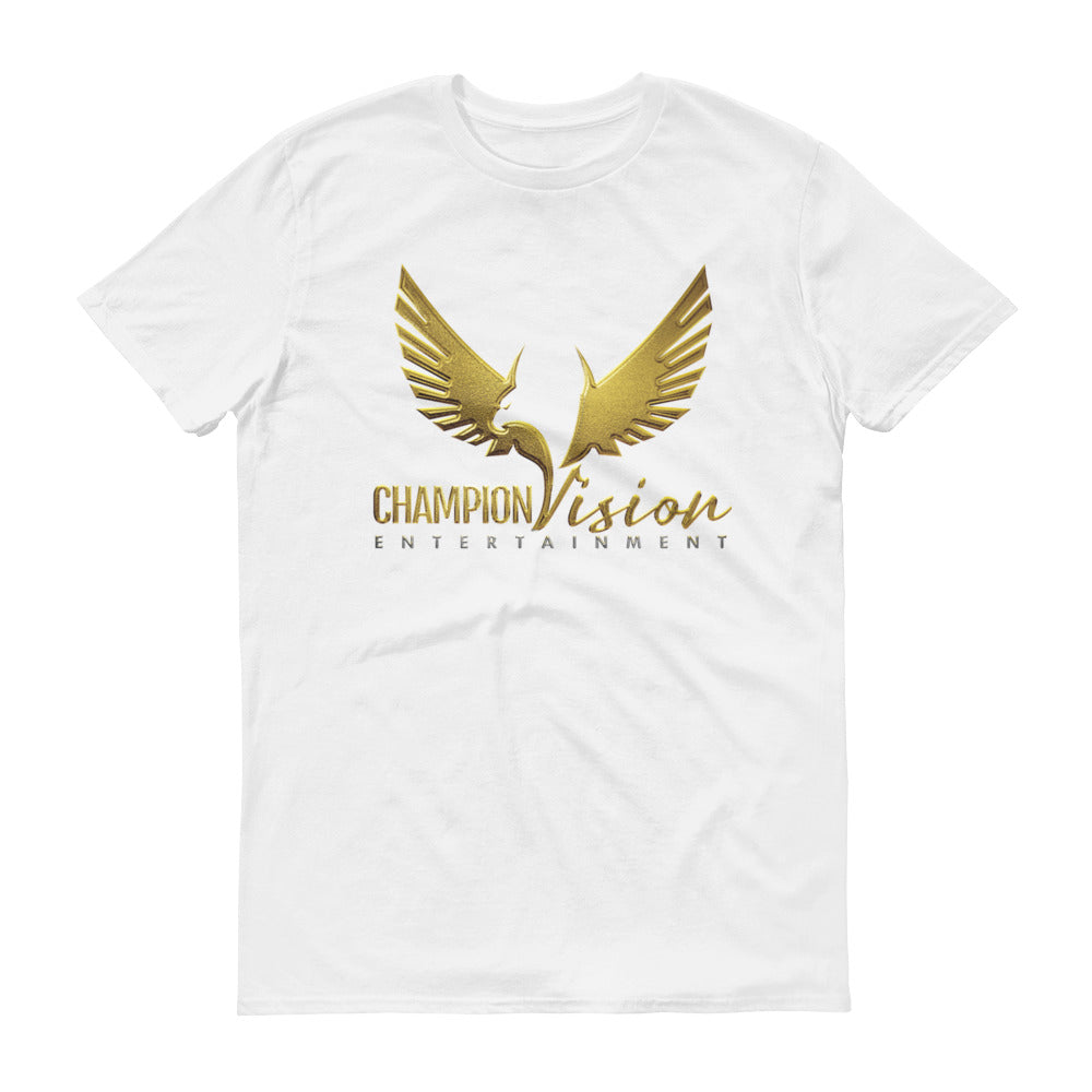 Men Champion Vision Logo Tee: White | Gold