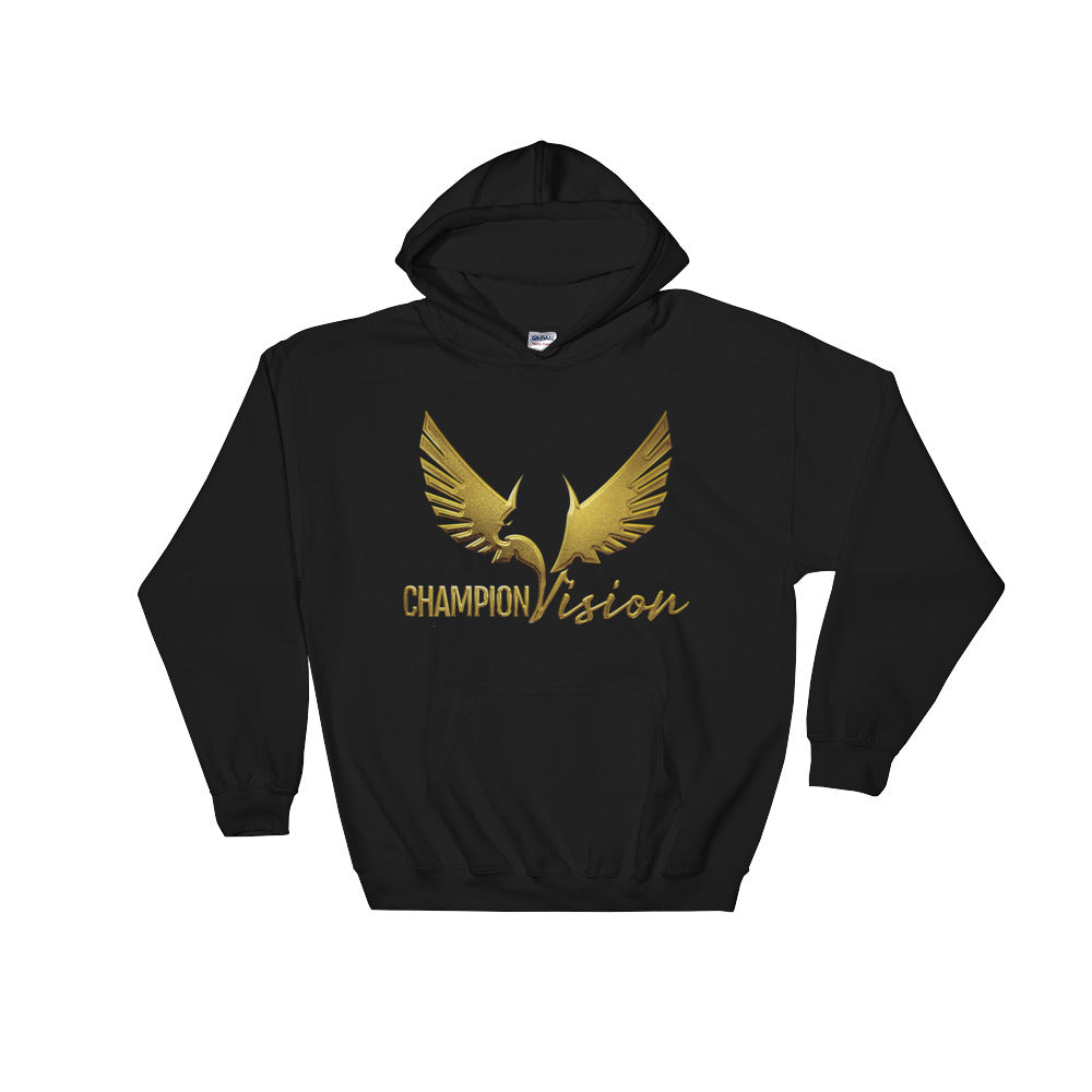 Men Champion Vision Logo Hoodie Black/Gold