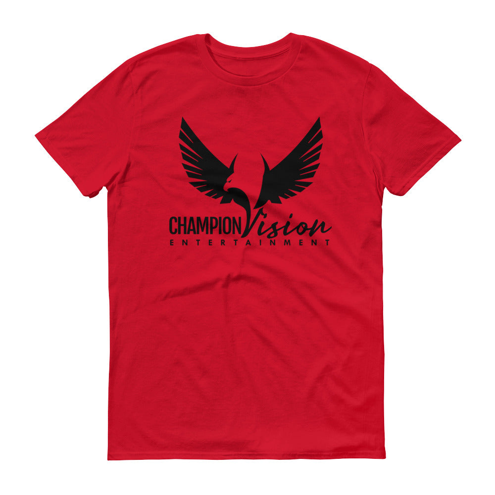 Men Champion Vision Logo Tee: Red | Black