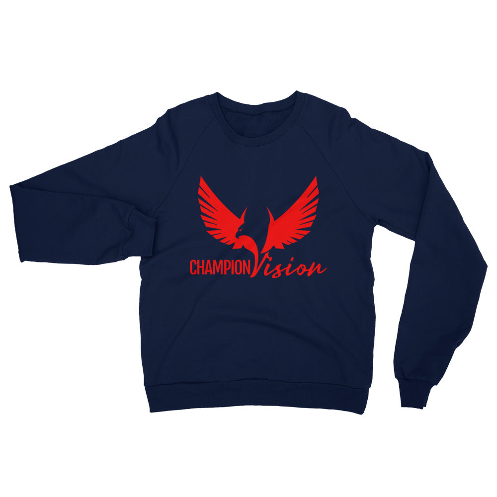 Women's Champion Vision Logo Sweatshirt Red/ Navy