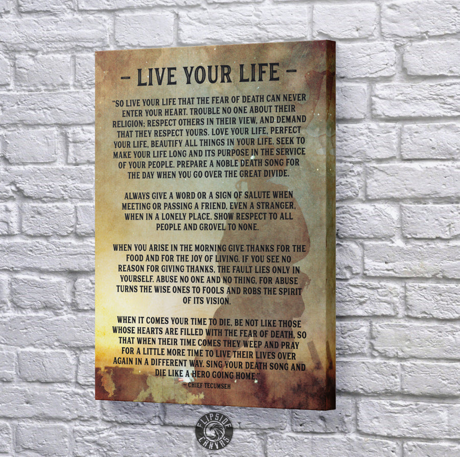 Live Your Life Poem
