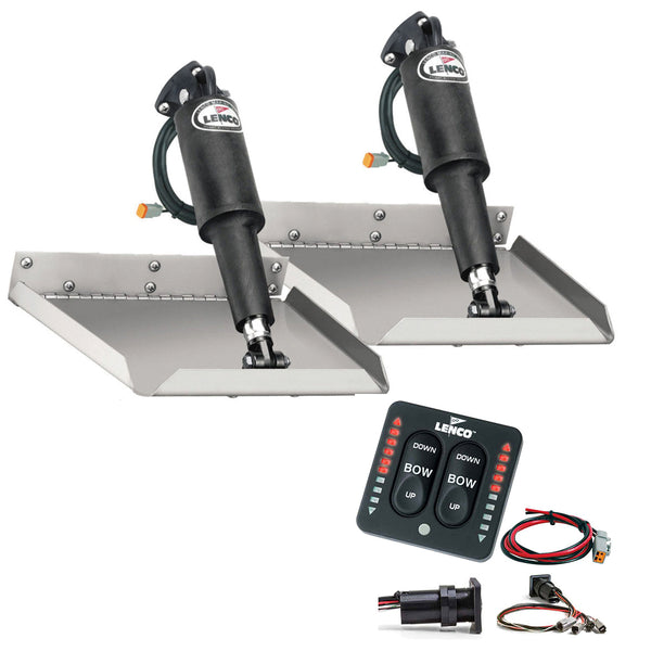 "Lenco 12"" x 18"" Edgemount Trim Tab Kit w-LED Indicator   Switch Kit 12V [TT12X18EI]"