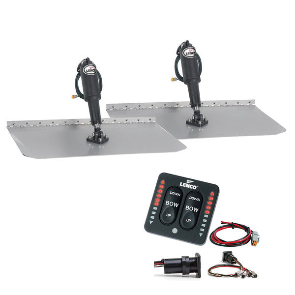 "Lenco 12"" x 30"" Standard Trim Tab Kit w-LED Indicator Switch Kit 12V [TT12X30I]"