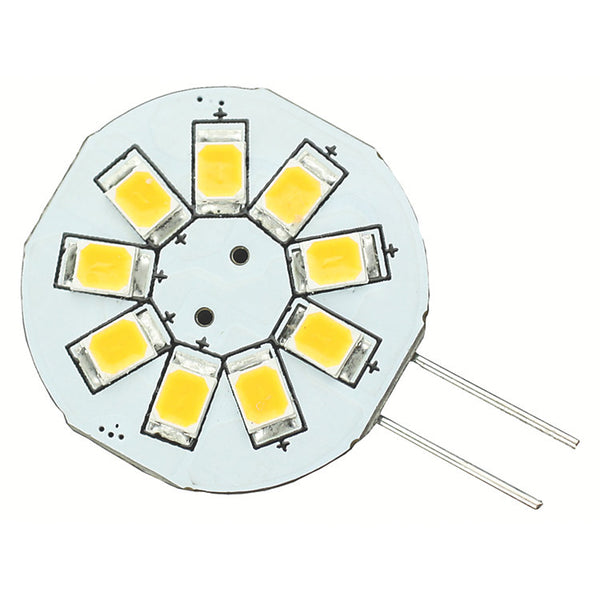 Lunasea G4 8 LED Side Pin Light Bulb - 12VAC or 10-30VDC-1.2W-123 Lumens - Warm White [LLB-216W-21-00]