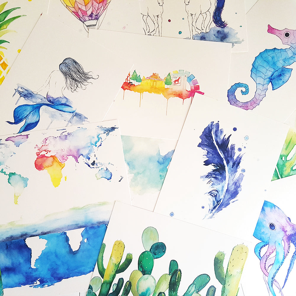 Watercolour Prints Assorted C Co The Artisan Collective