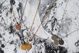 Hand Stamped Necklaces - MINI'S
