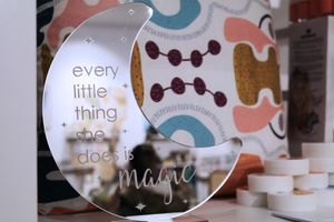 Every Little Thing Acrylic Moon Sign