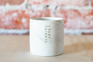 Ceramic Marble Soy Candle