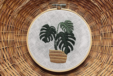 Load image into Gallery viewer, Monstera Embroidery Kit