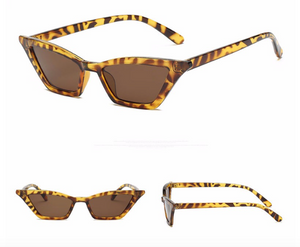 Tortoise Slim Frame Cat Eye Sunglasses