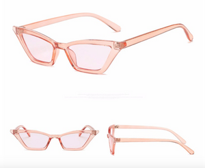 Pink Slim Frame Cat Eye Sunglasses