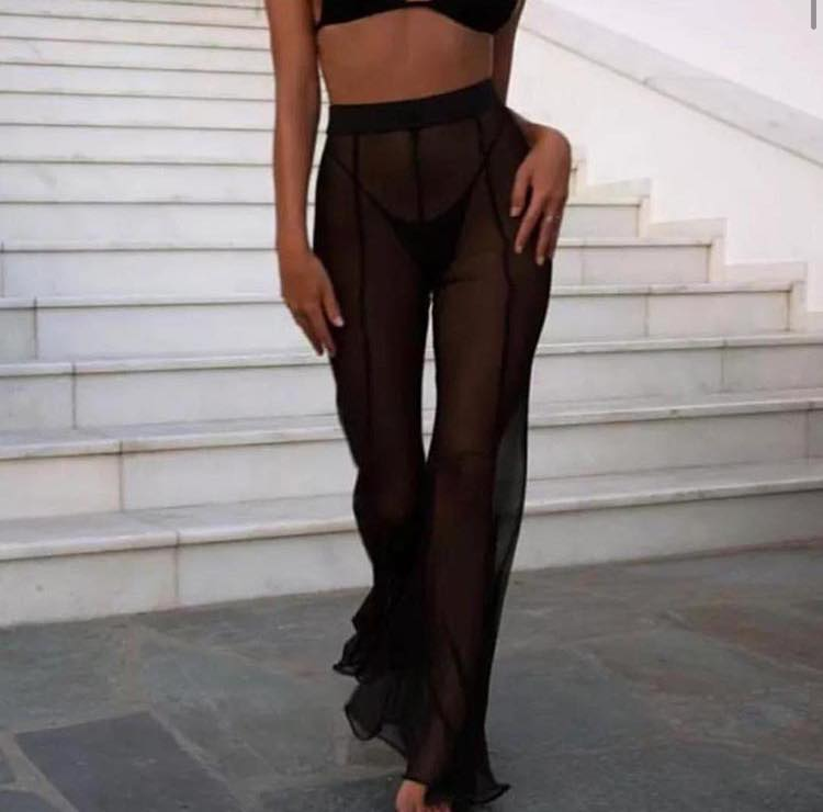 Sheer Flare Trousers - 20% OFF