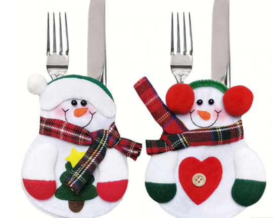 (8 Pcs) Christmas Tableware Holder