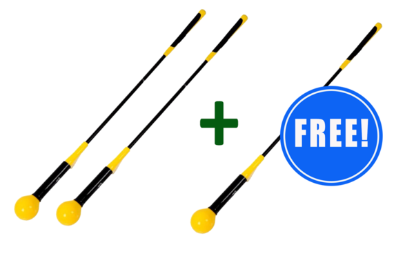 2 Golf Swing Trainers + 1 FREE