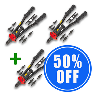 2 Heavy Duty Auto Riveting Tool Sets + 1 50% OFF!