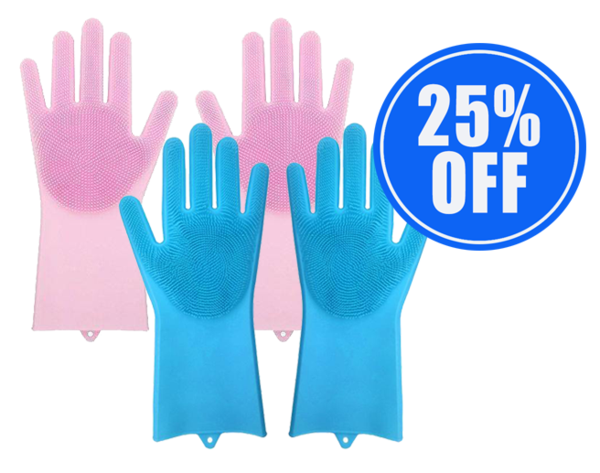 1 Pair of Magic Washing Gloves + 1 25% OFF