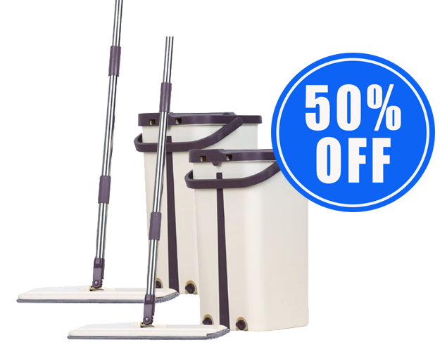 1 Self-Cleaning Magic Flat Mop + 1 50% OFF