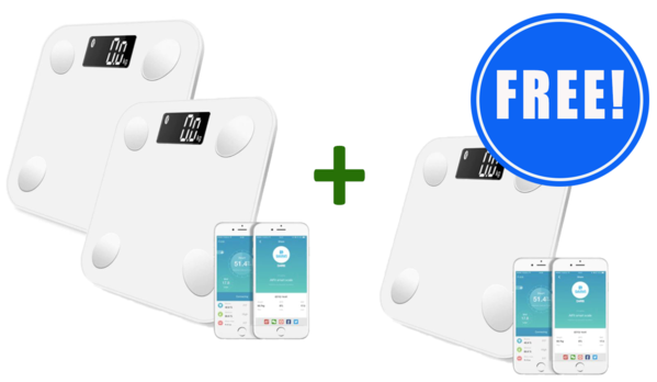 2 Smart Bluetooth Body Scales + 1 FREE!