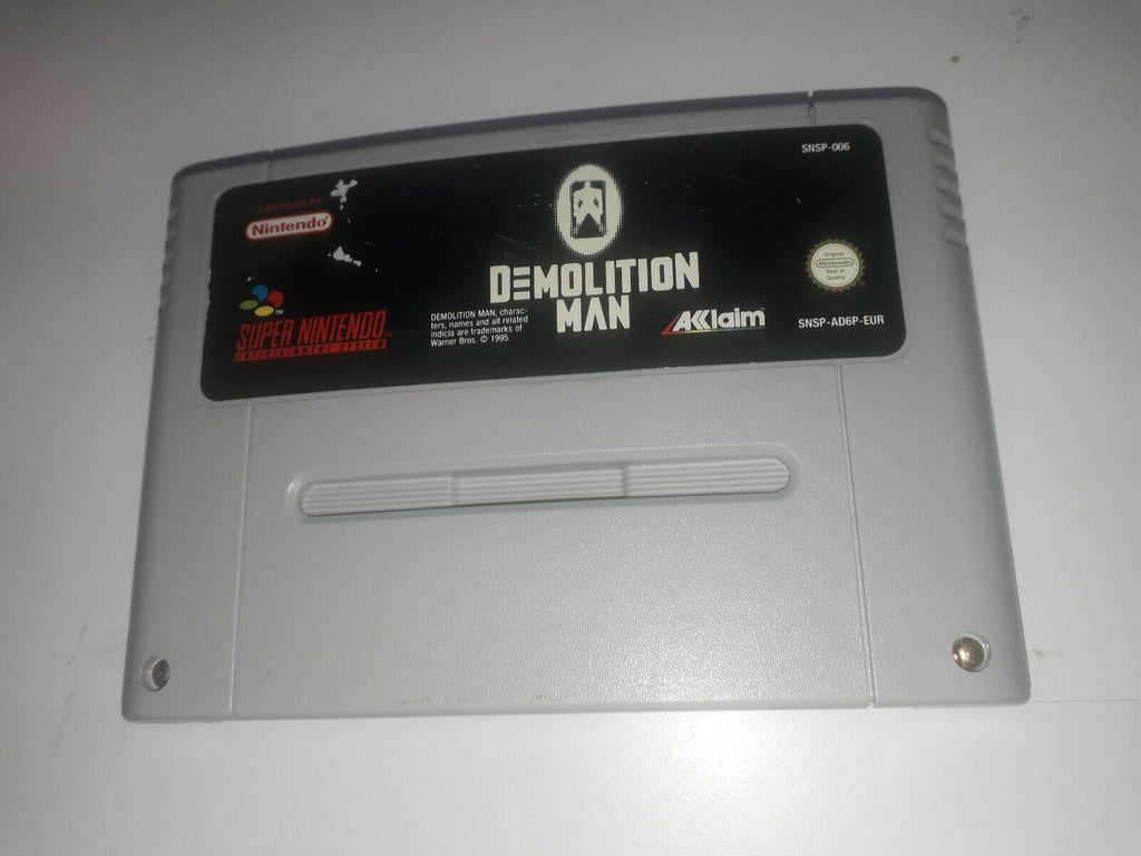 * Super Nintendo Game * DEMOLITION MAN * SNES *
