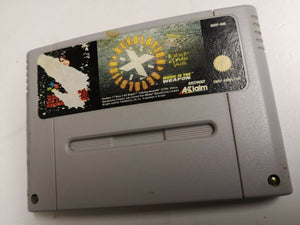 * Super Nintendo Game * REVOLUTION X * SNES * Label Wear/Dam