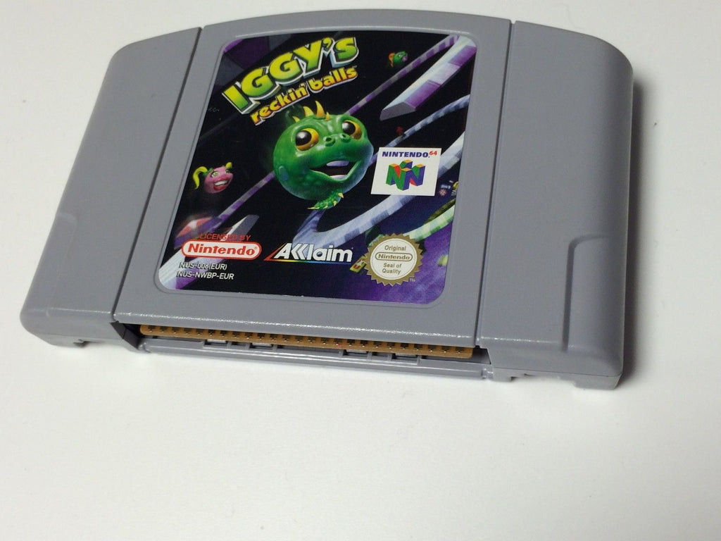 * Nintendo 64 Game * IGGY'S RECKIN' BALLS * WRECKING * N64