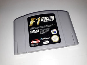 * Nintendo 64 Game * F1 RACING CHAMPIONSHIP * N64