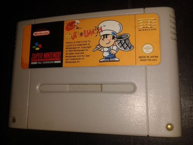 * Super Nintendo Game * PIERRE LE CHEF OUT TO LUNCH * SNES