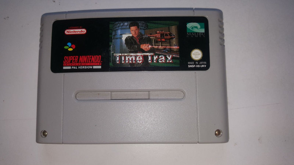 * Super Nintendo Game * TIME TRAX * SNES *