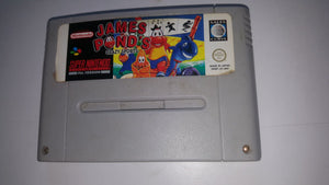 * Super Nintendo Game * JAMES POND CRAZY SPORTS * SNES *