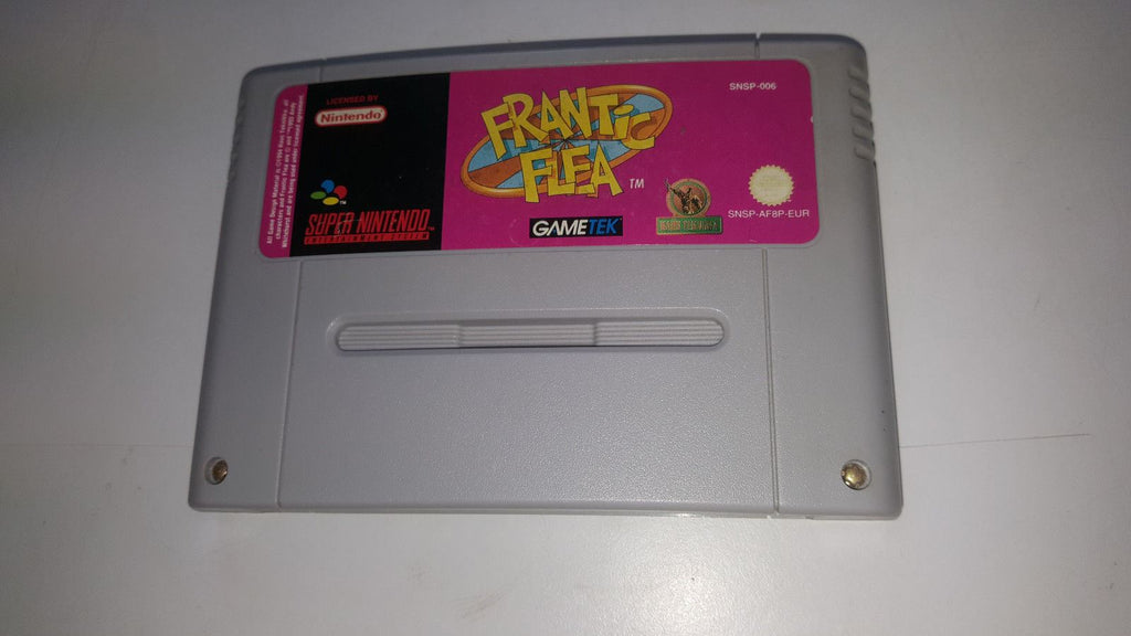 * Super Nintendo Game * FRANTIC FLEA * SNES *